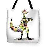 Illustration Of An Iguanodon Tote Bag