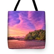 Indian Ocean Sunset Tote Bag
