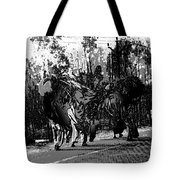 Indian Women Carrying Heavy Loads Along The Highway Tote Bag