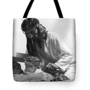 Indians Building Missions Tote Bag