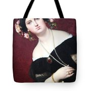 Ingres' Madame Moitessier Abstract Tote Bag