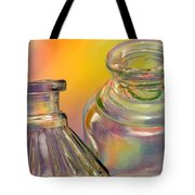 Ink Bottles On Color Tote Bag by Carol Leigh