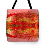 Golden Abstract Painting  Tote Bag