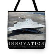 Innovation Inspirational Quote Tote Bag