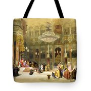 Inside The Church Of The Holy Sepulchre Tote Bag