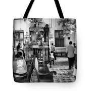 Inside The Historic Jewish Synagogue In Cochin Tote Bag
