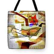 Interstate 10- Exit Out West- Where Life Begins New- Rectangle Remix Tote Bag