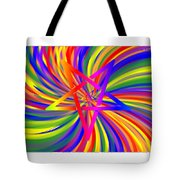 Inverted Rainbow Spiral Tote Bag