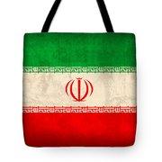 Iran Flag Vintage Distressed Finish Tote Bag