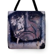Iron Eyes Cody Homage The Big Trail 1930 The Crying Indian Black Canyon Arizona 2004 Tote Bag