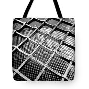 Iron Protection On Mesh Covered Well Inside Edinburgh Castle Tote Bag