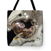 Iss Expedition 38 Spacewalk Tote Bag