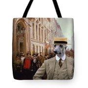 Italian Greyhound Art Canvas Print Tote Bag