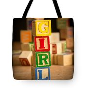 Its A Girl - Alphabet Blocks Tote Bag