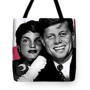 Jackie And Jack Kennedy In A Photo Booth Snap No Known Location 1953-2013 Tote Bag