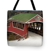 Jackson Cross Country Skiing Bridge Tote Bag