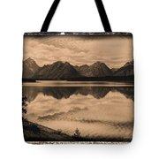 Jackson Lake Wyoming Tote Bag