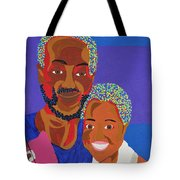 James And Monique Tote Bag