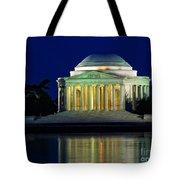Jefferson Memorial At Night Tote Bag