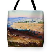 Jerusalem From The Mount Of Olives Tote Bag