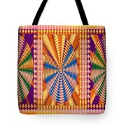 Jewel Panel Colorful Buttons Golden Abstract Signature Art  Navinjoshi Artist Created Images Texture Tote Bag