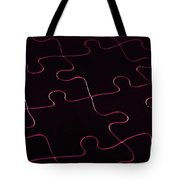 Jigsaw Puzzle Lines Tote Bag