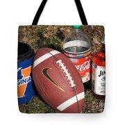 Jim Beam Coke And Football Tote Bag