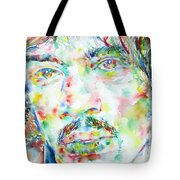 Jimi Hendrix Watercolor Portrait.1 Tote Bag