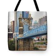 John Roebling Bridge 1867 Tote Bag