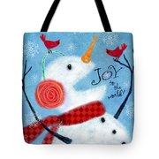 Joyful Snowman Tote Bag