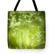 June Green Grass Flowering Tote Bag by Elena Elisseeva