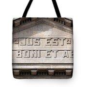 Jus Est Ars Boni Et Aequi Tote Bag