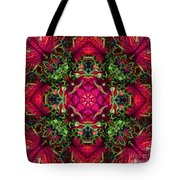 Kaleidoscope Made From An Image Of A Coleus Plant Tote Bag