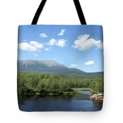 Katahdin From Abol Bridge Tote Bag
