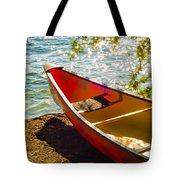 Kayak By The Water Tote Bag