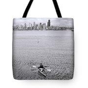 Kayaking Elliot Bay Tote Bag