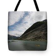 Kayaking To The Nigardsbreen Glacier Tote Bag