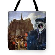 Keeshond Art Canvas Print Tote Bag
