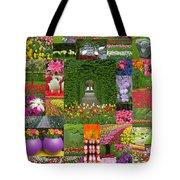 Keukenhof Gardens Collage Tote Bag
