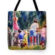 Kids Fishing Tote Bag