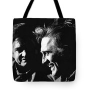 Kirk Douglas Laughing Johnny Cash Old Tucson Arizona 1971 Tote Bag