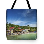 Koh Rong Island Beach Bars In Cambodia Tote Bag