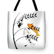 Koi Utsurimono Yellow Golden Ogon Bekko And Bamboo   Tote Bag