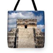 Kukulkan Pyramid At Chichen Itza Tote Bag