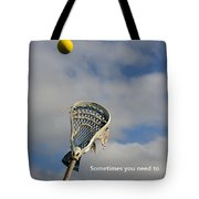 Lacrosse Reach Higher Tote Bag