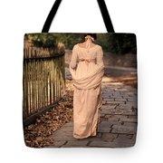 Lady In Regency Dress Walking Tote Bag