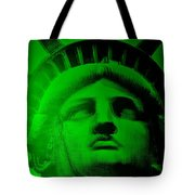 Lady Liberty In Green Tote Bag
