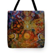 Lady Of The Divine Current Tote Bag