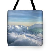 Lake Erie Ice Sunrise Tote Bag