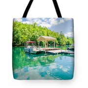 Lake Fontana Boats And Ramp In Great Smoky Mountains Nc Tote Bag